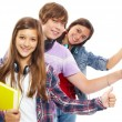 young-people-in-row-with-thumbs-up
